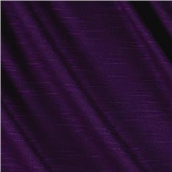 Stretch Slub Rayon Jersey Plum Fabric