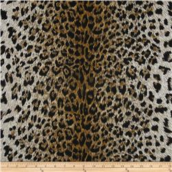 Cotton Jersey Knit Leopard Gold/Black