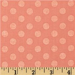 Kaufman Spot On Pearl Metallic Medium Dot Peach