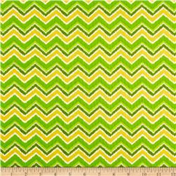 Moda Folklore Chevron Butternut Celery