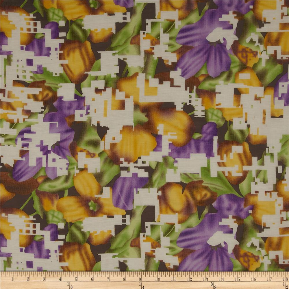 Jonquil Shirting Floral Purple/Gold
