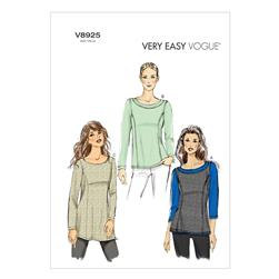 Vogue Misses' Top Pattern V8925 Size 0Y0
