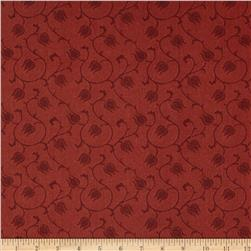 Tulip Festival Tulip Vine Dark Red Fabric