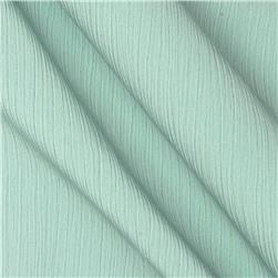 Lyric Wide Crinkle Polyester Shirting Aqua Mist