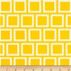 Color Composition Squares Yellow Fabric