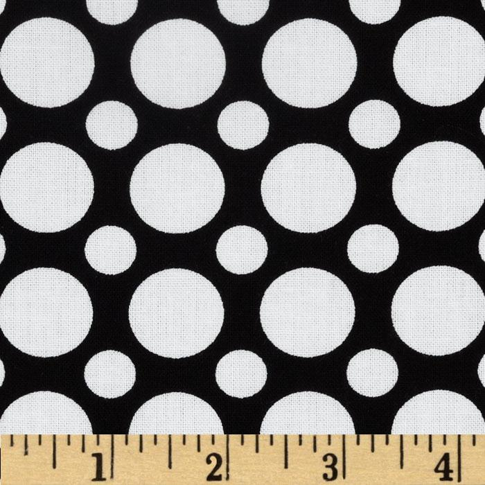 Kaufman Spot On Large Dot Black