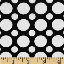 Kaufman Spot On Large Dot Black Fabric