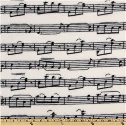 WinterFleece Musical Notes Black/Ivory