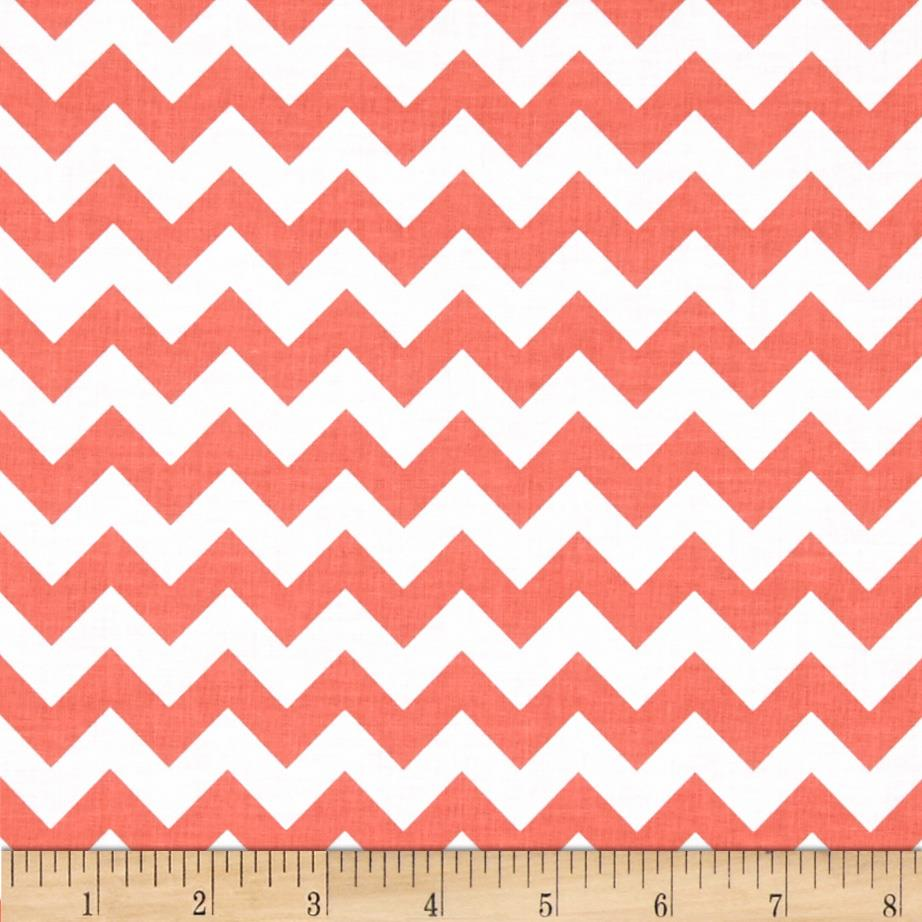 "Riley Blake 58"" Manufactures Cut Small Chevron Rouge"