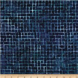 Artisan Batiks Elementals Boxed In Plaid Navy