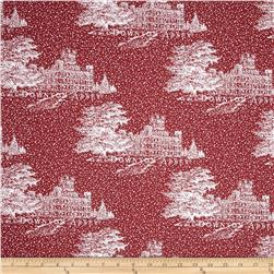 Downton Abbey Christmas Metallic Castle Red