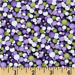 Poppy Panache Watercolor Circles Green/Purple