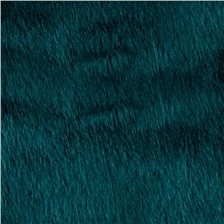 Shannon Faux Fur Solid Mink Deep Teal