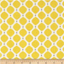 Gray Matters More Geo Yellow Fabric