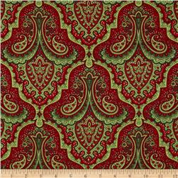 Crimson & Holly Paisley Red/Green