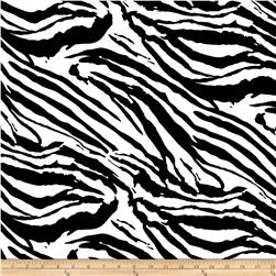 Charmeuse Satin Zebra Skins Black/White