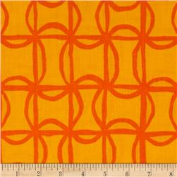Kanvas Lili-fied Pinwheel Gold/Orange Fabric