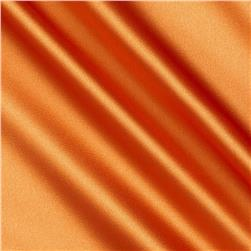 Stretch Charmeuse Satin Orange Fabric