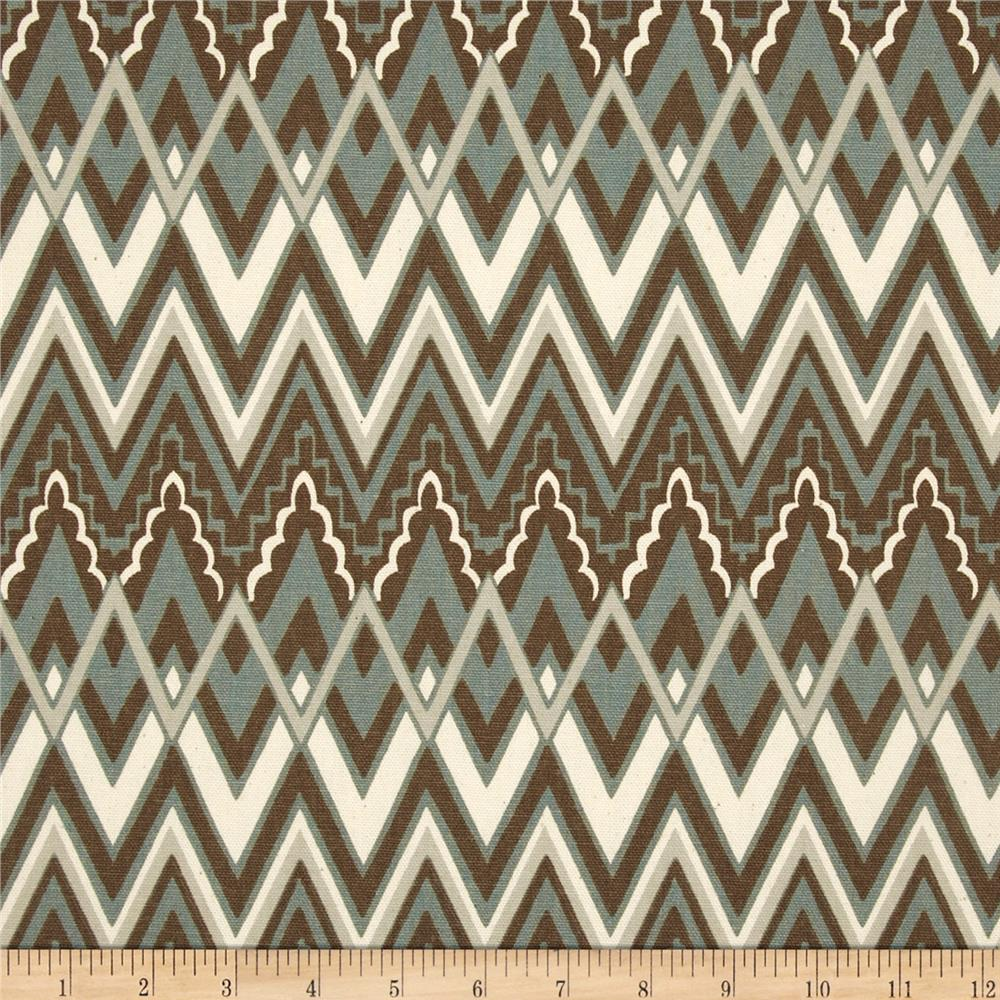 Premier Prints Savvy Chevron Pewter/Natural