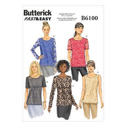 Butterick Misses' Top Pattern B6100 Size B50