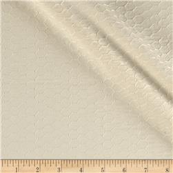 Kaufman Rebecca Embroidered Poplin Honeycomb Natural