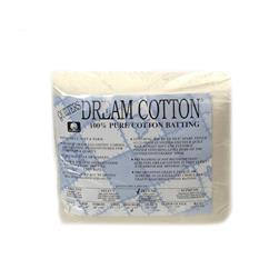 "Quilter's Dream Natural Cotton Deluxe Batting (96"" x 93"") Double"