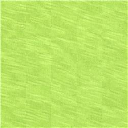 Jersey Cotton Slub Knit Bright Lime
