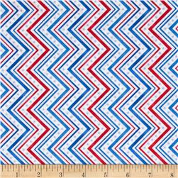 A Nation's Song Chevron Red/Blue