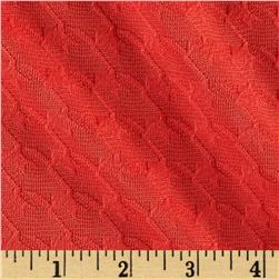 Double Knit Jacquard Houndstooth Coral