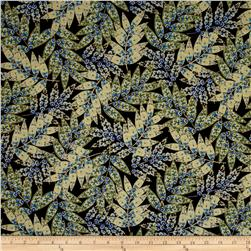 Imperial Gardens Metallic  Imperial Fern Blue