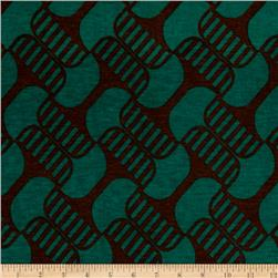 Jersey Knit Abstract Brown Green
