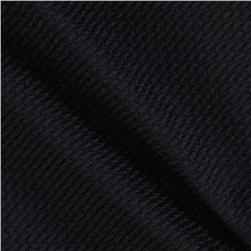 Pique Double Knit Black