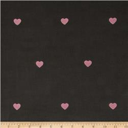 Embroidered 21 Wale Corduroy Heart Graphite/Pink