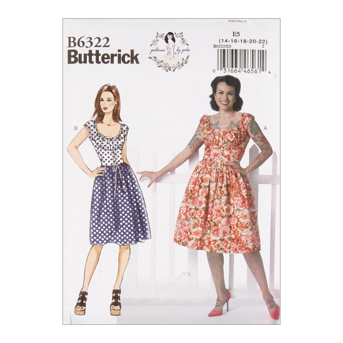 8116a09eecf 1950s Fabrics   Colors in Fashion Butterick B6322 Patterns by Gertie Misses  Ruched Corset-Style