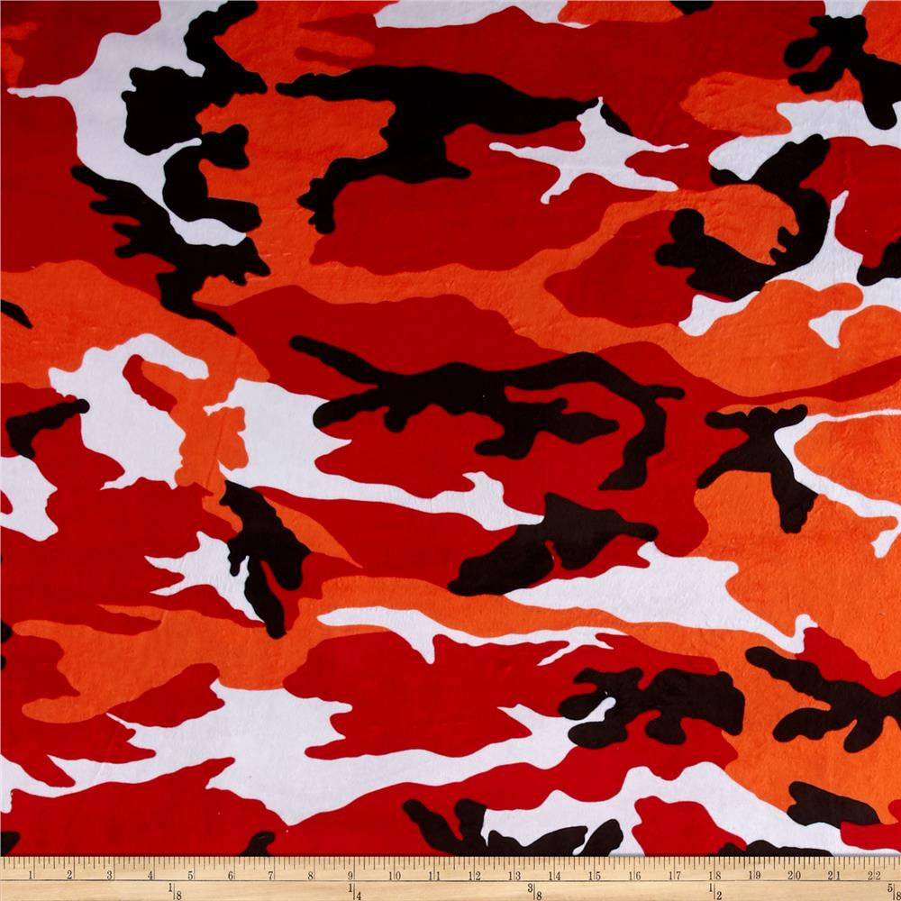 Minky Camo Red/Orange