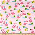 Comfy Flannel Prints Flamingoes Pink
