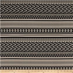 Stretch ITY Knit Aztec Stripe Black/Cream