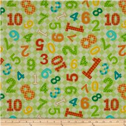 Best Friends Tossed Numbers White/Light Green/Multi