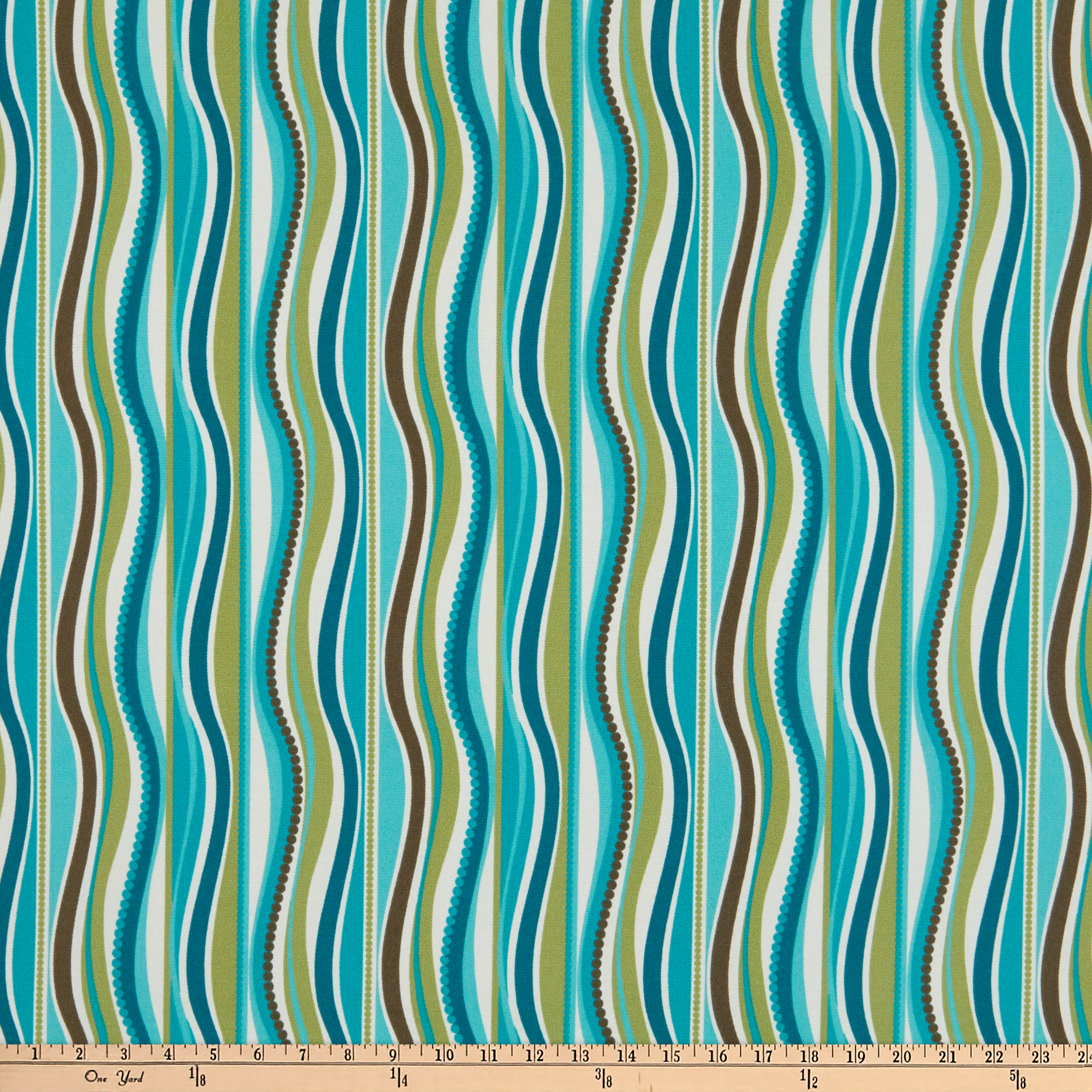 Terrasol Indoor/Outdoor Wave Peacock Fabric by Tempro in USA