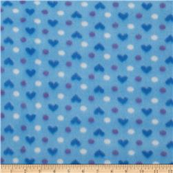 Fleece Hearts/Dots Blue/Purple