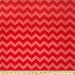 Riley Blake Dreamy Minky Medium Chevron Tone on Tone Red