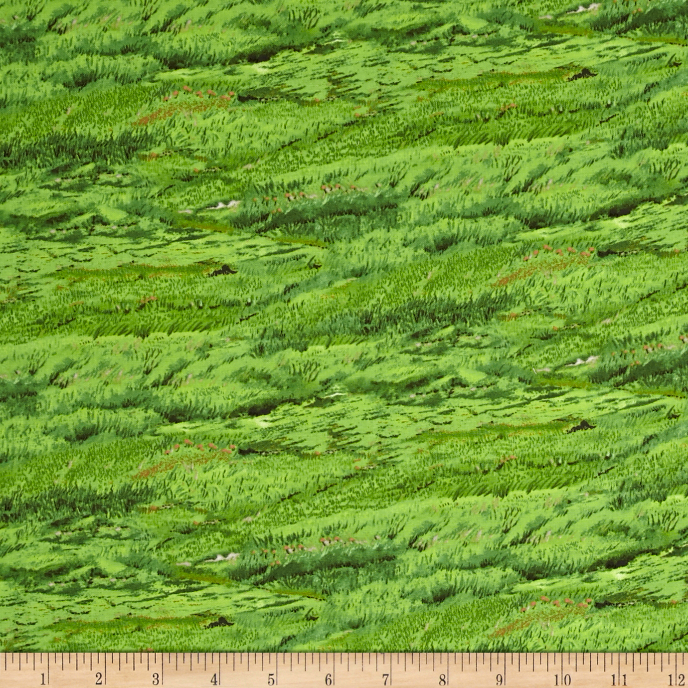 In The Meadow Sheep Grass Fabric by Exclusively Quilters in USA