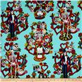 Alexander Henry Folklorico Tree of Life Turquoise