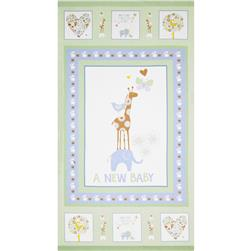 OOO Baby Flannel Panel Green