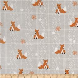Wonderful Woodlands  Fox Plaid Grey