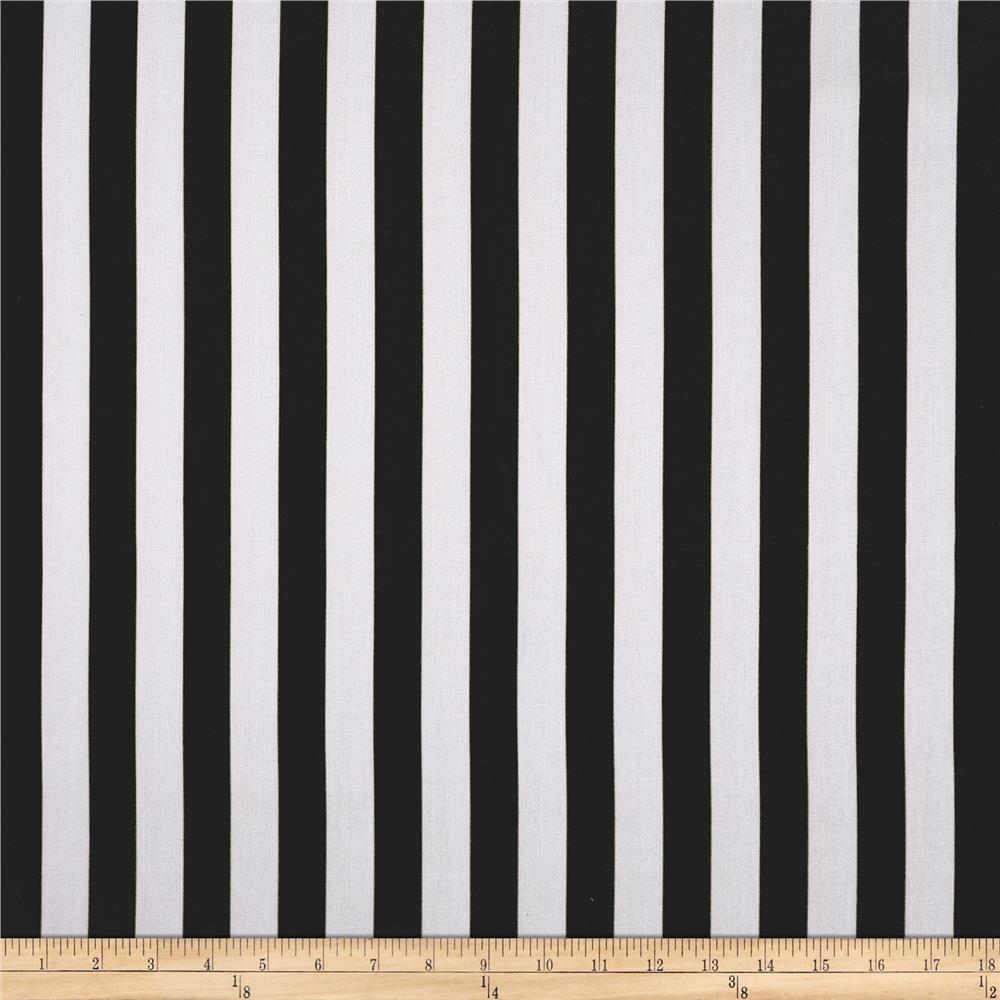 World Wide Striped Lines Black