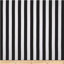 World Wide Striped Lines Black Fabric