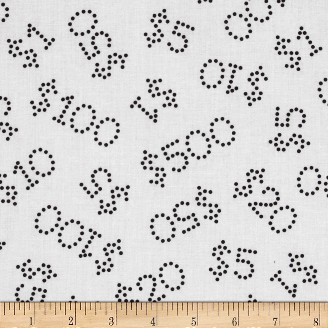 Mr. Monopoly Dotted Money White Fabric