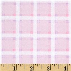 Kanvas Bunny Hop Flannel Soft Plaid Cotton Candy