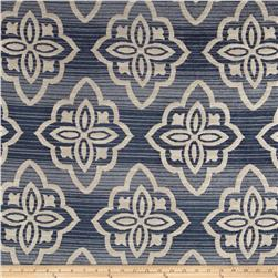 Jaclyn Smith 02601 Medici Chenille Jacquard Indigo